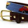 Hand Stitched Needlepoint Truck Belt