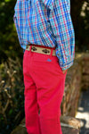 Island/ Red Plaid Destin Dress Shirt