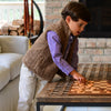 Sherpa Fleece Vest for Kids - Brown