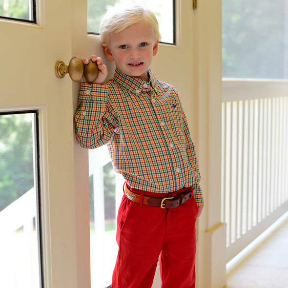 Point Clear Pants for Kids - Classic Red
