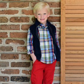 Perdido Knit Vest for Kids - Navy