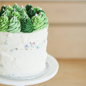 Buttercream Christmas Tree Cake