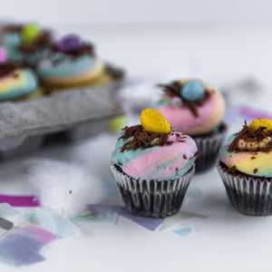 Speckled Egg Micro Cupcakes