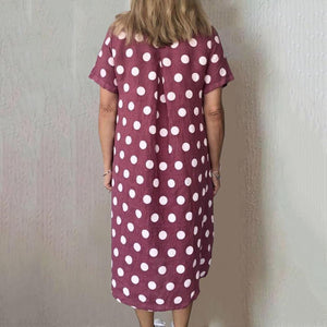 Polka Dot Pockets Midi Dress