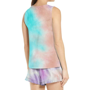Tie Dye Sleeveless Top with Shorts