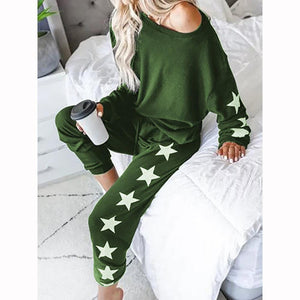 Star Print Long Sleeve Casual Set