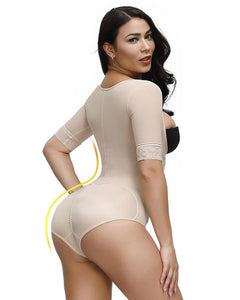 Seamless Women Shapers Sleeve Body Shapewear Slimming Tummy Control Bodysuit