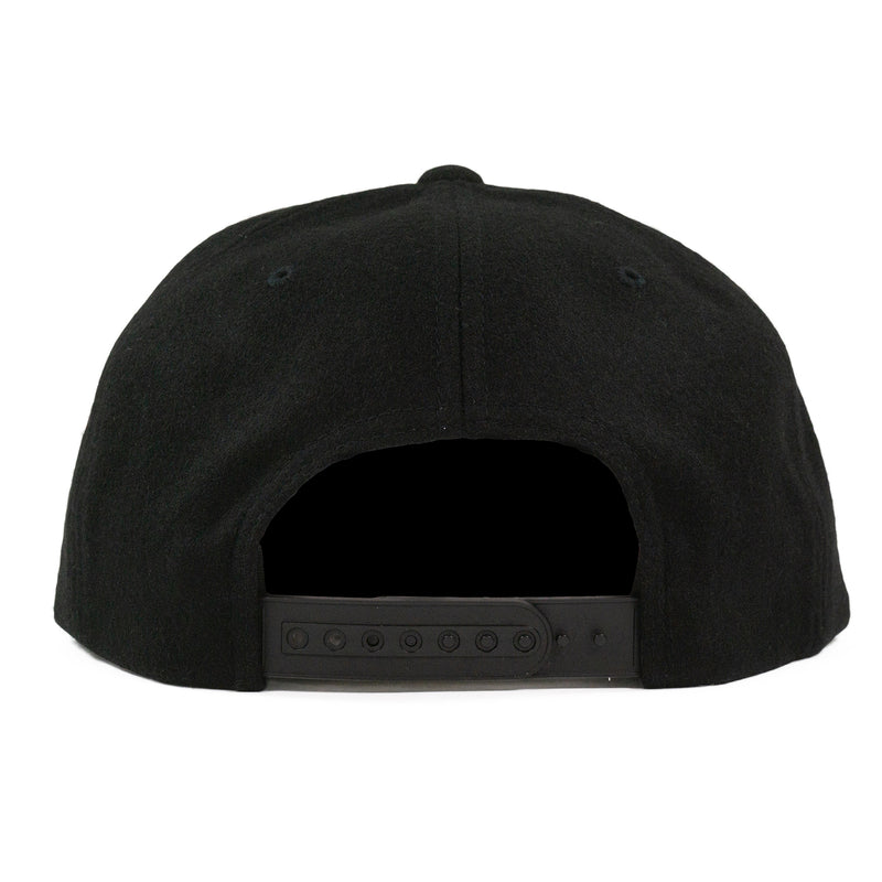 Black Wool Flexfit Cap
