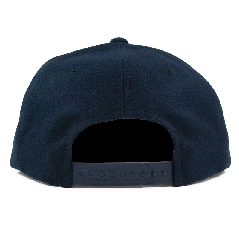 Navy Wool Flexfit Cap