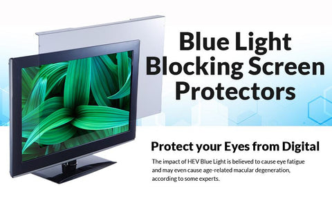 Blue Light Blocking Screen Protector on Computer Monitor