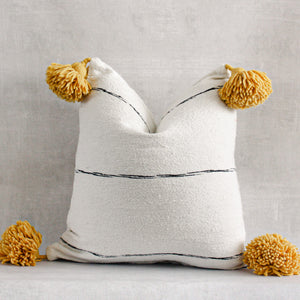 No. 2 Handmade Moroccan Pom Pom Pillow Cover
