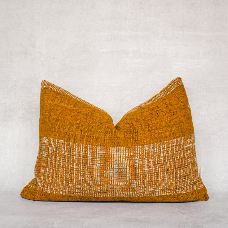 LAYO-Authentic Mali Mudcloth Lumbar Throw Pillow Cover