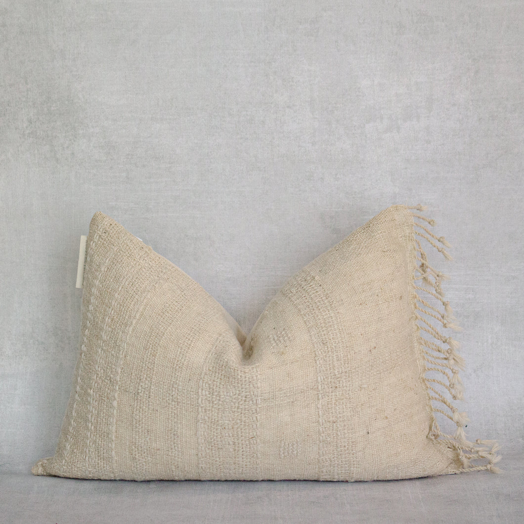 ASHA - Vintage Lumbar Indian Wool Pillow Cover