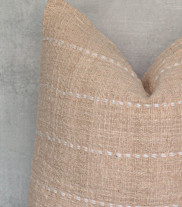 LOLADE- Textured Natural Raw Cotton Pillow Cover