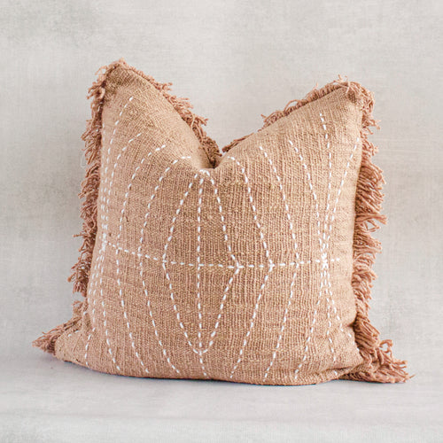 SAYO - Textured Natural Raw Cotton Pillow Cover