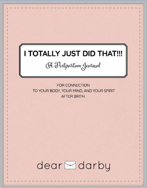 I TOTALLY JUST DID THAT!!! A Postpartum Journal