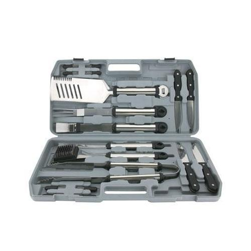 18 Pc Grilling Tool Set w Case