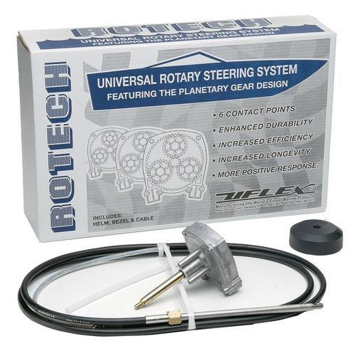 UFlex Rotech 11' Rotary Steering Package - Cable Bezel Helm