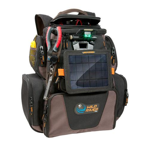 Wild River Tackle Tek&trade Nomad XP&trade Lighted Backpack w/USB Charging System SP01 Solar Kit & Trays