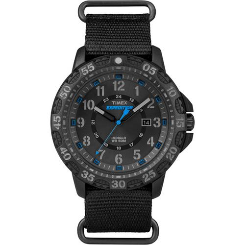 Timex Expedition Rugged Resin Slip-Thru Watch - Black/Black