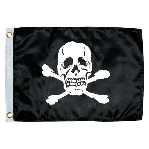 "Taylor Made 12"" x 18"" Jolly Roger Novelty Flag"