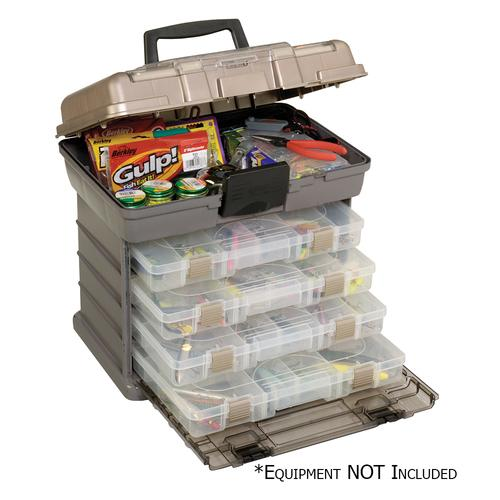 Plano Guide Series&trade Stowaway&reg Rack Tackle Box System - Graphite/Sandstone