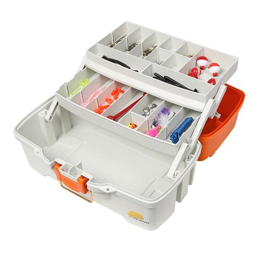 Plano Ready Set Fish Two-Tray Tackle Box - Orange/Tan