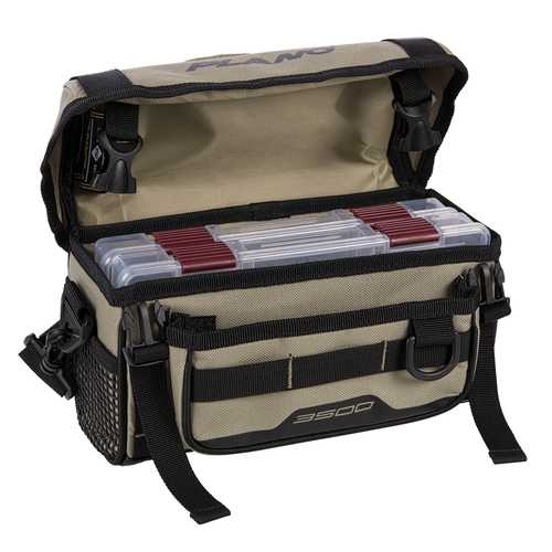 Plano Weekend Series Softsider&trade Tackle Bag - 2-3500 Stowaways Included - Tan