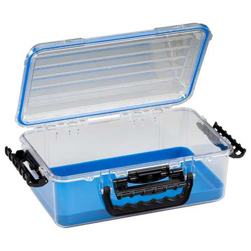 Plano Guide Series&trade Waterproof Case 3700 - Blue/Clear