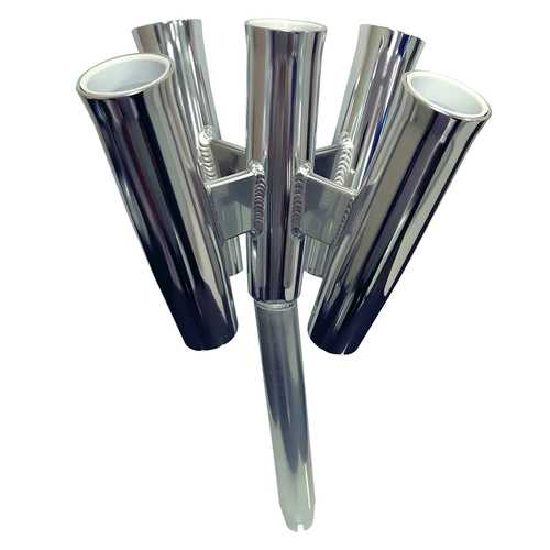 Tigress Five Rod Cluster - Bent Butt - Polished Aluminum