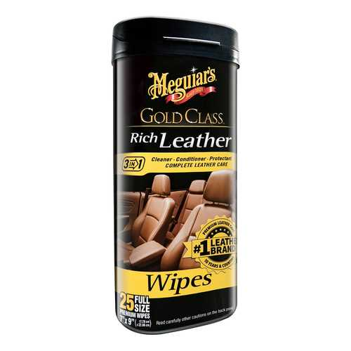 Meguiar&#39s Gold Class&trade Rich Leather Cleaner &amp Conditioner Wipes *Case of 6*
