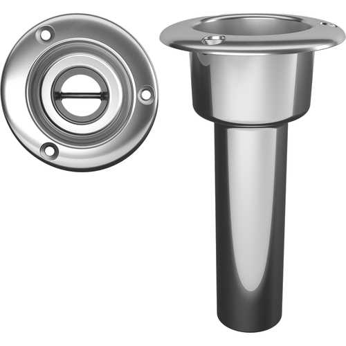 Mate Series Stainless Steel 0&deg Rod &amp Cup Holder - Open - Round Top