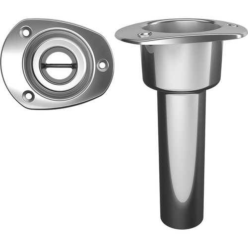 Mate Series Stainless Steel 0&deg Rod &amp Cup Holder - Open - Oval Top