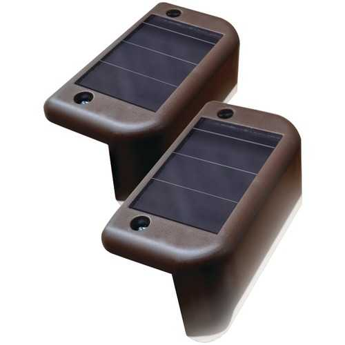 MAXSA Innovations 47332 Solar-Powered Deck Lights, 4 pk