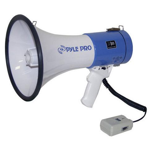 Megaphone - PA Bullhorn with Siren Alarm Mode & Adjustable Volume Control