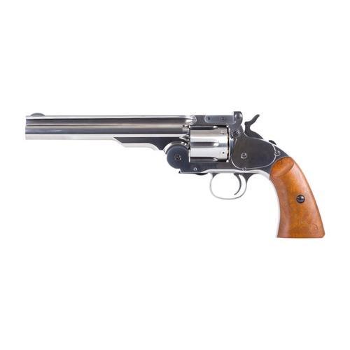 Schofield No. 3 Nickel CO2 BB Revolver, Full Metal