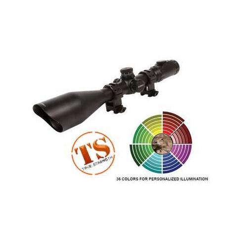 UTG Accushot 4-16x56 AO Rifle Scope, SWAT, EZ-TAP, Illuminated Etched-Glass Mil-Dot Reticle, 1/8 MOA, 30mm Tube, Twist-Lock See-Thru Weaver/Picatinny Rings
