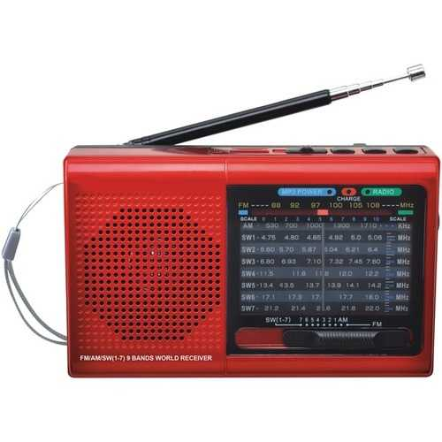 Supersonic 9-band Bluetooth Radio (pack of 1 Ea)