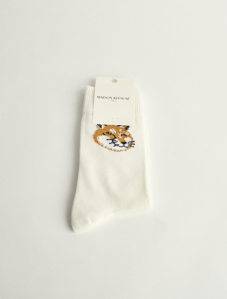 Fox Head Socks - Off White