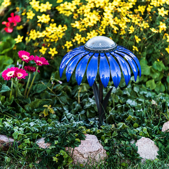 Indigo Coneflower Solar Light