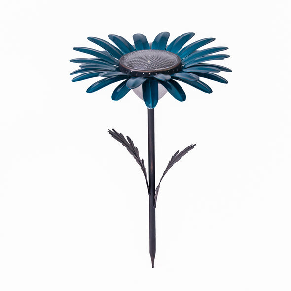 Teal Daisy Solar Light