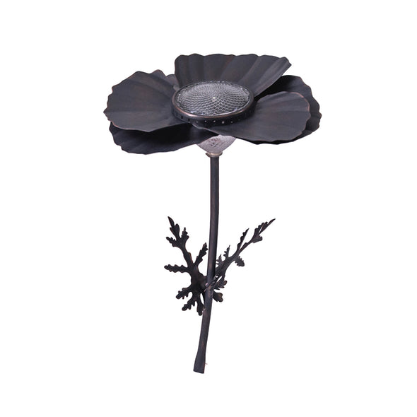 Bronze Poppy Solar Light