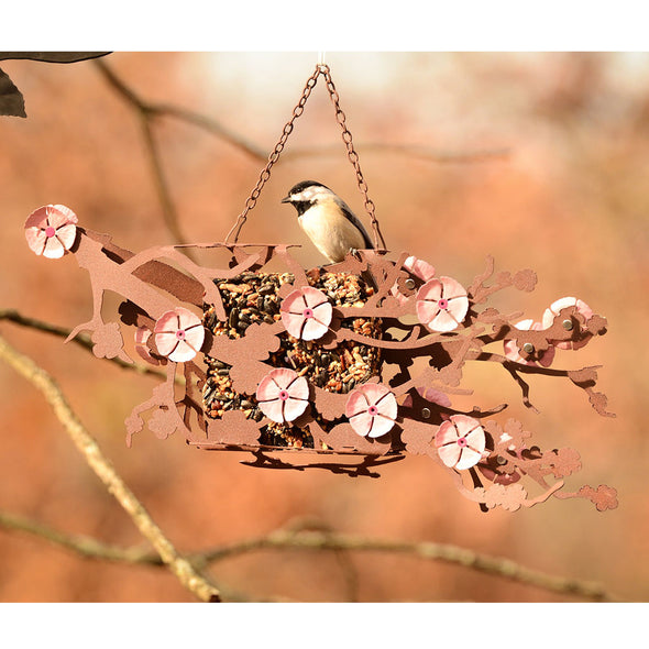 Bird perched on Cherry Blossom Bird Feeder