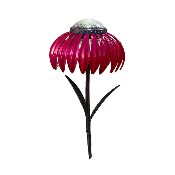 Pink Coneflower Solar Light