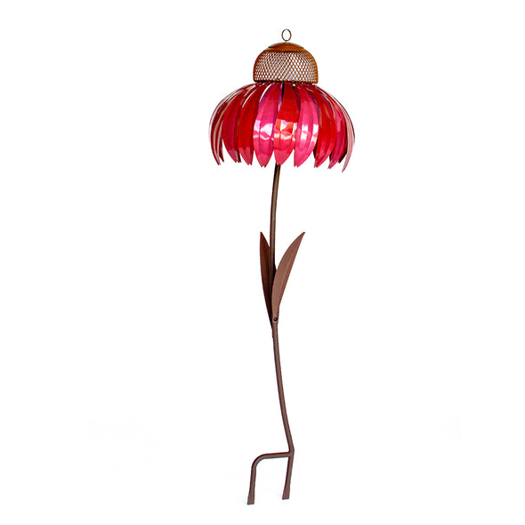 Pink Coneflower Bird Feeder