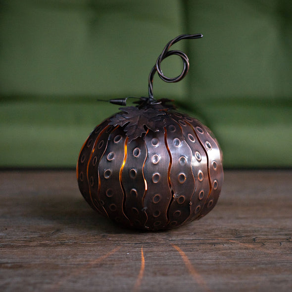Mini Pumpkin Luminary on porch