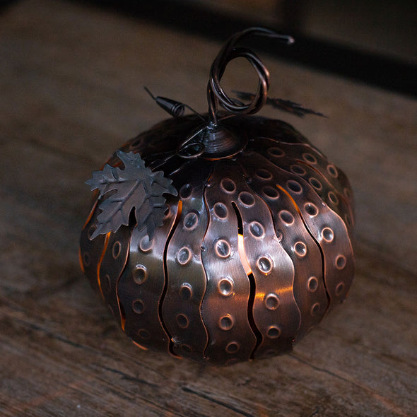 Mini Pumpkin Luminary on table
