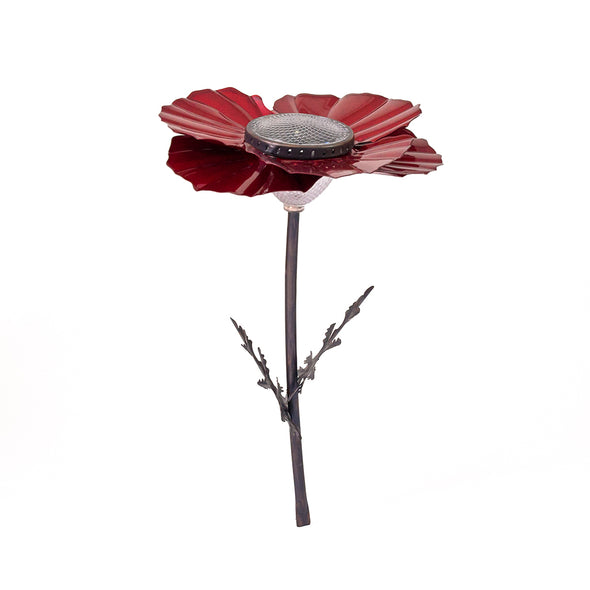 Red Poppy Solar Light