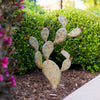 Prickly Pear Sculpture in landscape bed - Chico