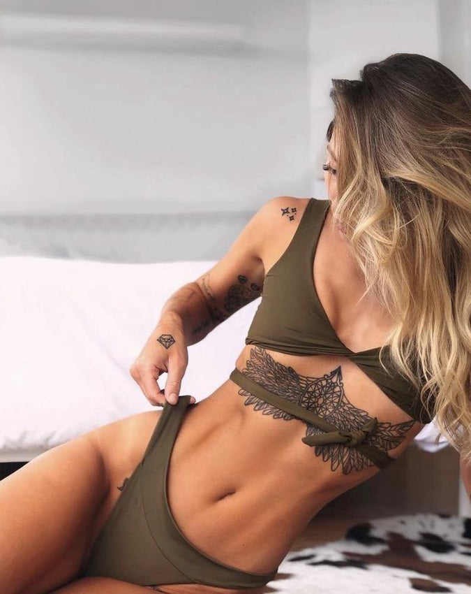 DESIREE BOTTOMS // OLIVE - Shop Moonstone Swim
